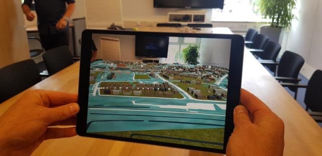 iPad augmented reality app